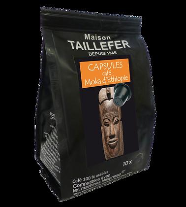 Capsules café Moka d'Éthiopie