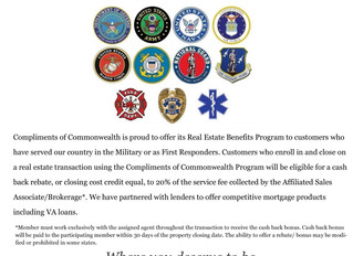 First Responders & Military Complements of Commonwealth Benefits Program