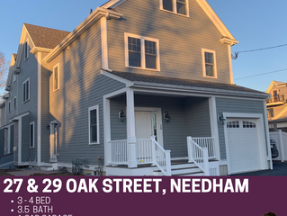 COMING SOON!  4 Townhouses in Needham Center!