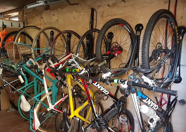 Steady Racks for seven bikes