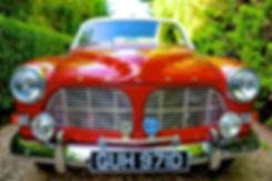 vintage wedding car volvo warwickshire