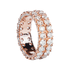 ANILLO CHURUMBELA ORO ROSA CON DIAMANTES