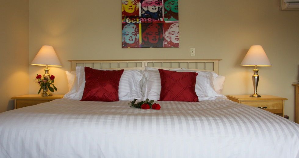 Enjoy your best sleep ever in our oft raved about beds with luxurious sheets.
