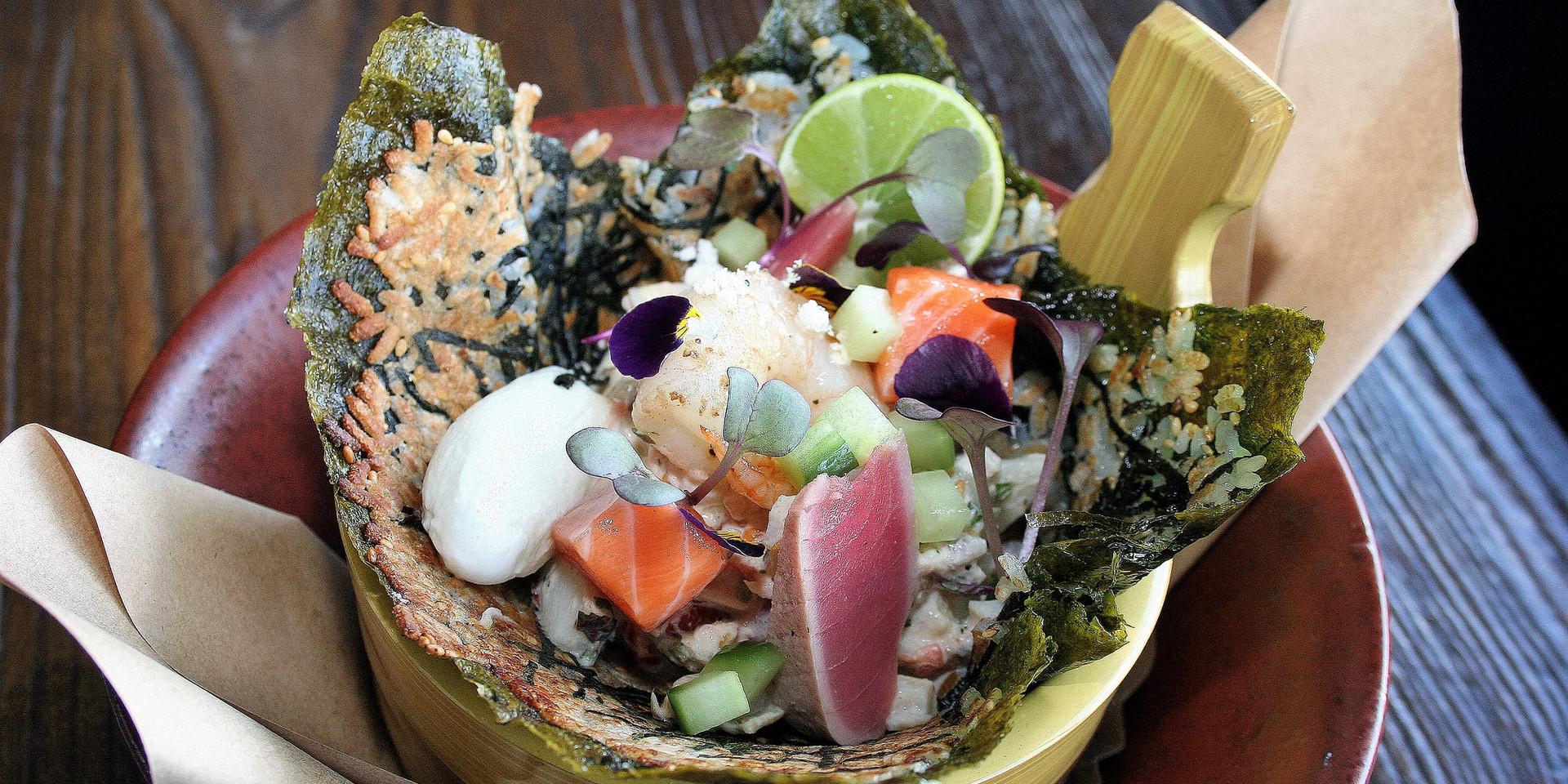 Sisig toasted sushi