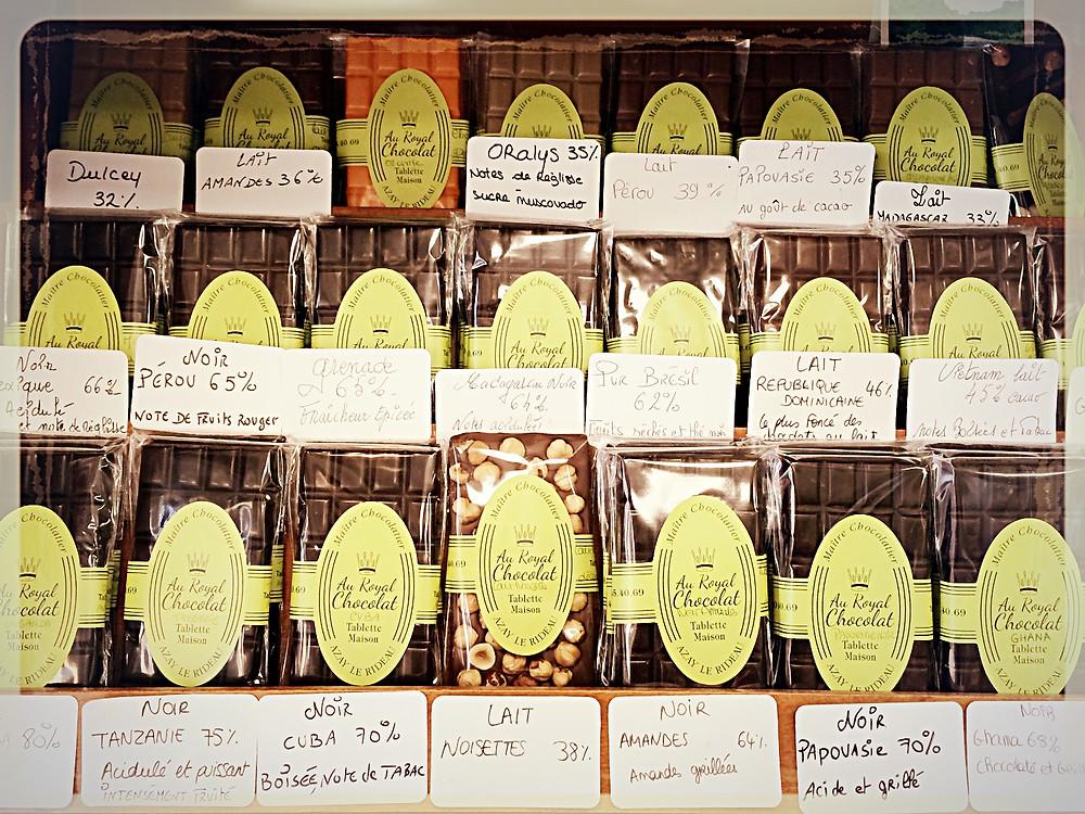 Tablettes de chocolat maison ©Clémentine Chauveau
