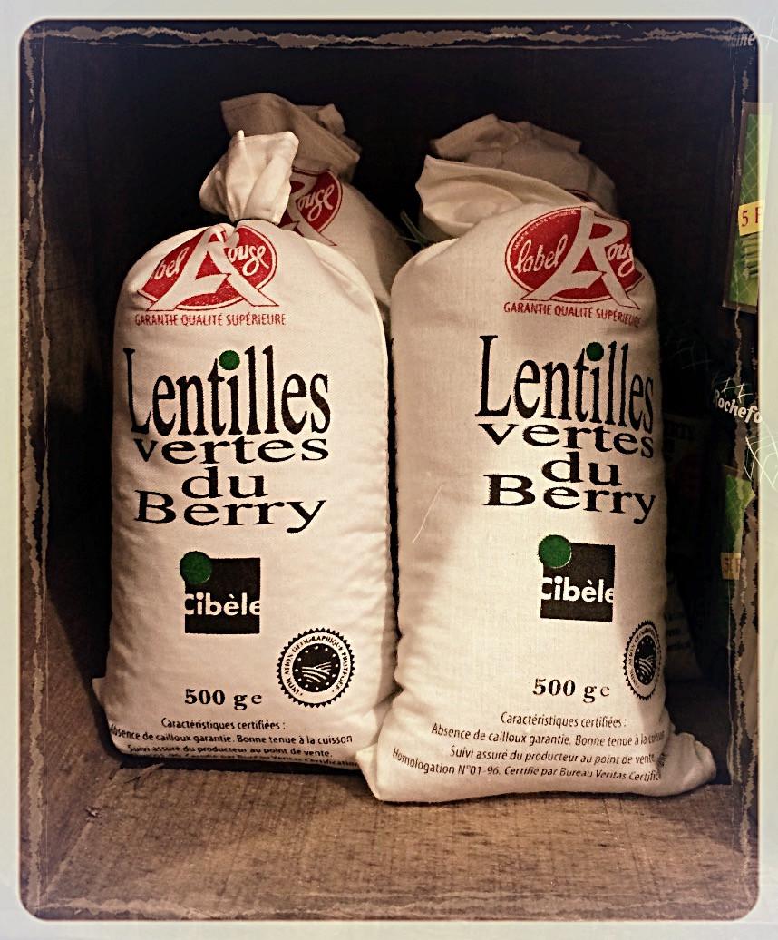 Lentilles vertes du Berry Label Rouge ©Clémentine Chauveau