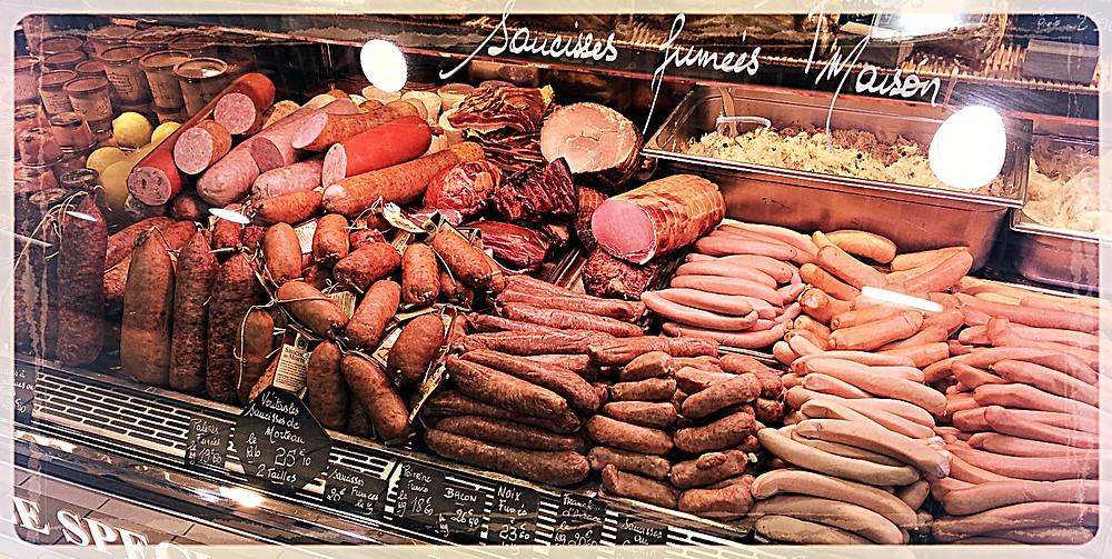Rayon saucisses maison et spécialités ©Clémentine Chauveau