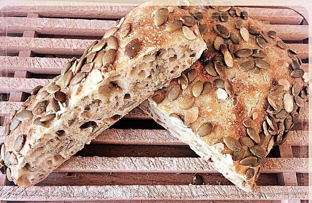 Le pain aux graines de courge l'Atelier du Talemelier ©Clémentine Chauveau