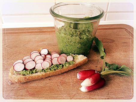La recette du jour: Pesto de fanes de radis
