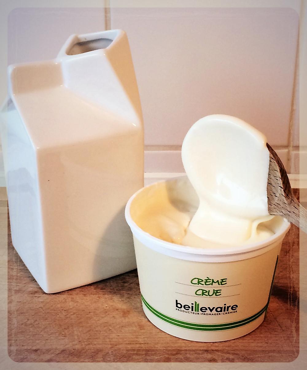 La crème crue Beillevaire ©Clémentine Chauveau