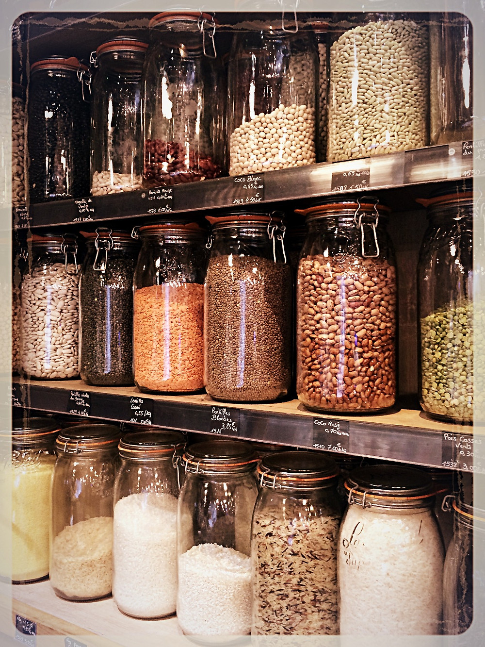 Légumes secs et céréales vendues en vrac ©Clémentine Chauveau