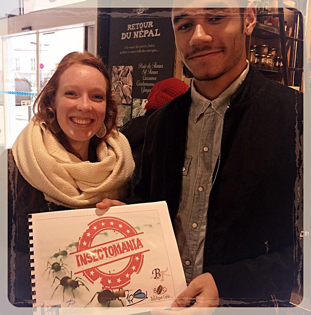 Léa et Dylan, organisateurs de l'évènement Insectomania ©Clémentine Chauveau