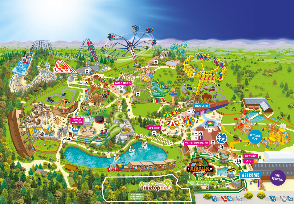 Lightwater Valley - Theme Park 13 miles from Hare Cottage