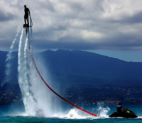 Example of an activity - fly boarding.
