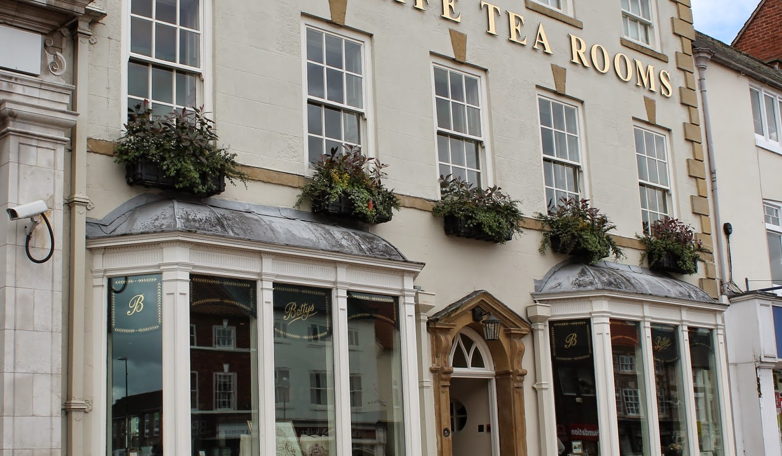 Bettys Tea Room, 14 miles from Hare Cottage