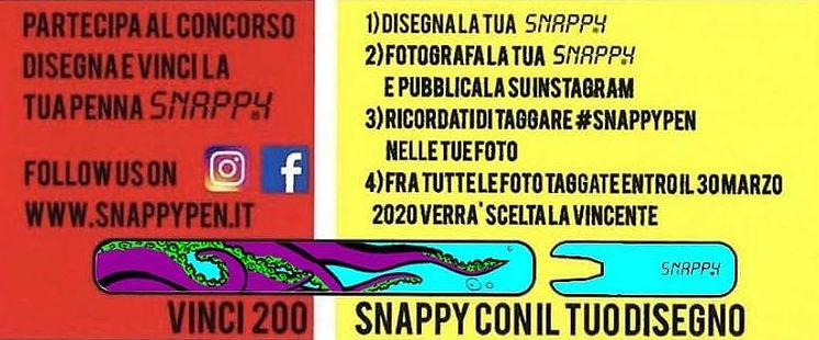 V classificato concorso Snappy Pen