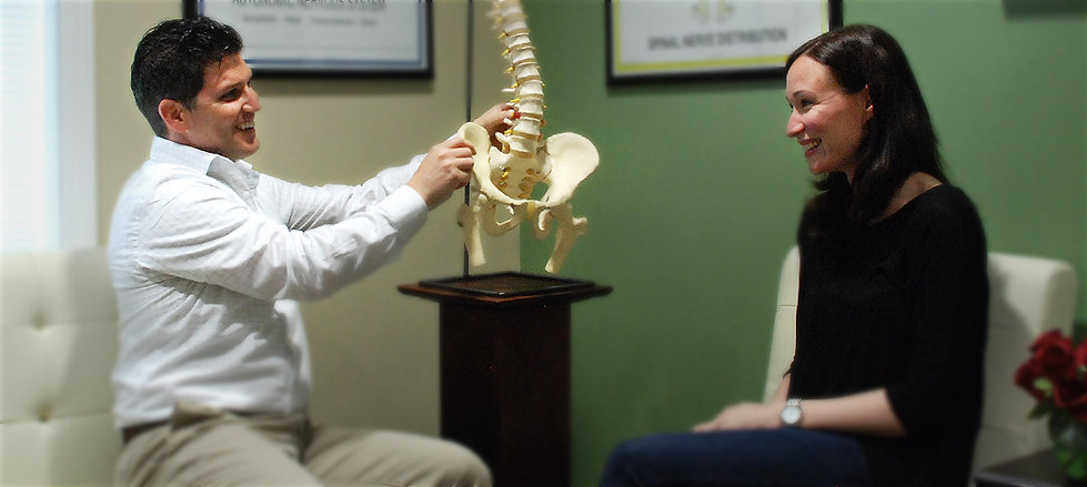 Chiro Doctor and Patient