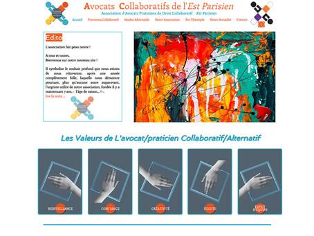 AVOCATS COLLABORATIFS DE L'EST PARISIEN         Nouveau look de l'association