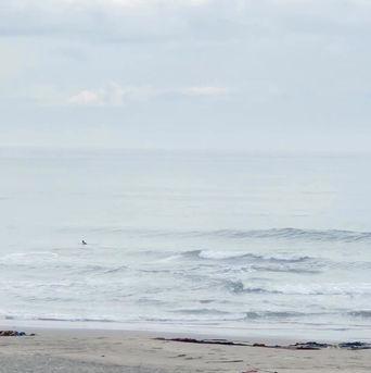 6月22日の朝の波