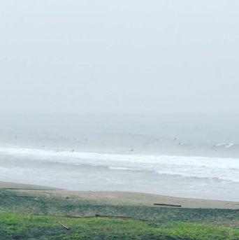 6月20日の朝の波