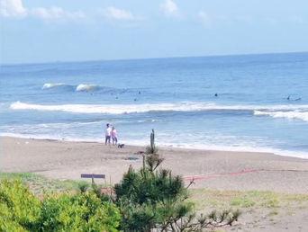 6月3日の朝の波