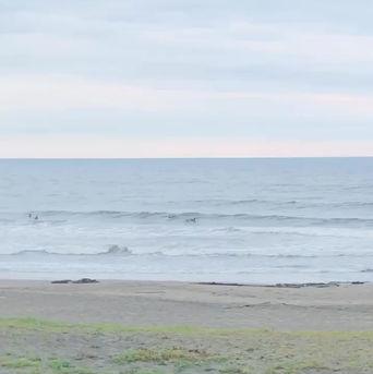 6月21日の朝の波