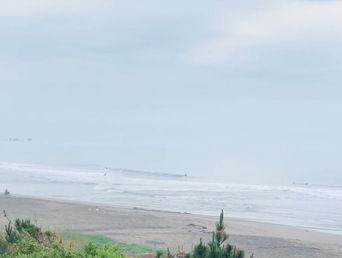 6月7日の朝の波