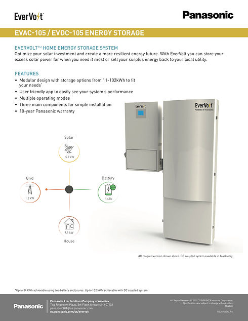 Evervolt Battery Storage Data Sheet (dra