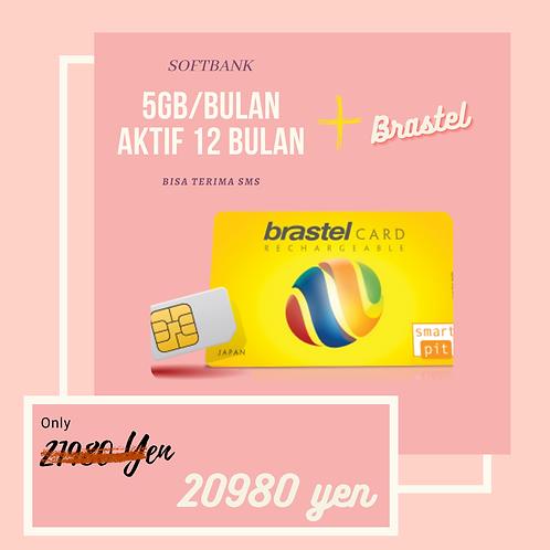 softbank 5gb + brastel 050