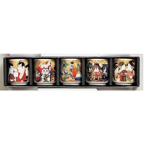 Mug Cantik Karakter Jepang 1 set (5pcs)