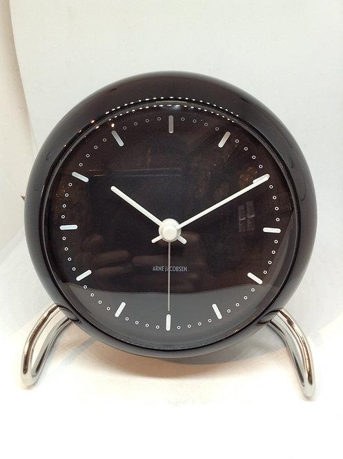 Arne Jacobsen table clock black