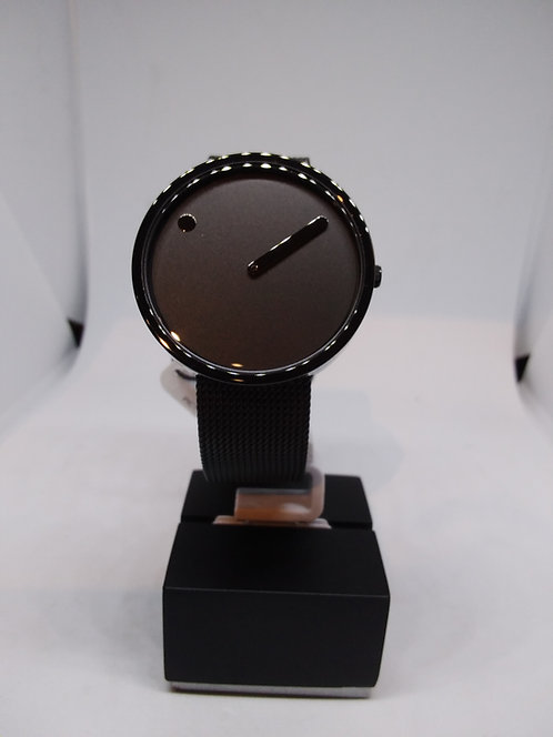 Picto 40 black grey dial milanese