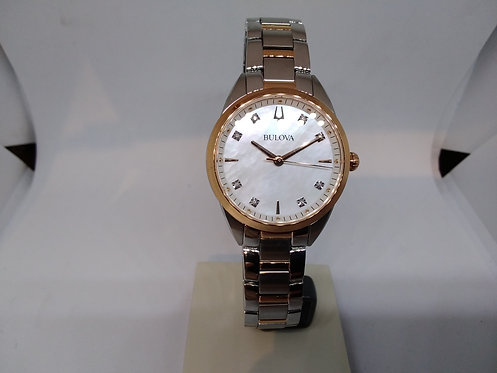 Bulova bicolor for her with diamonds on the dial