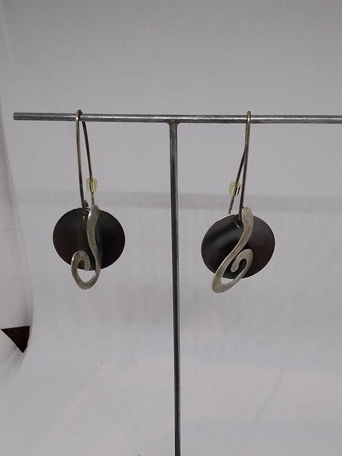 Argentviu Barcelona zilveren oorbellen ronde