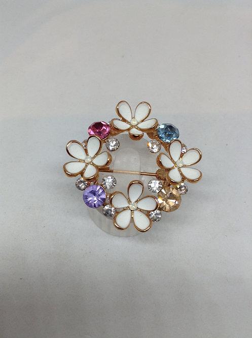 Bloemen broche