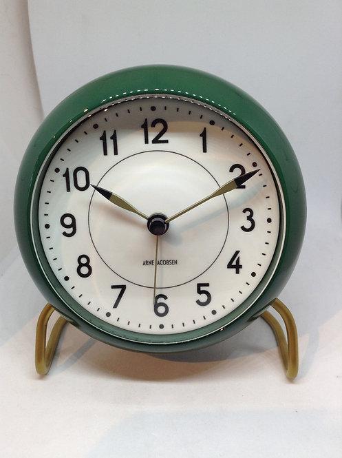 Arne Jacobsen table clock green