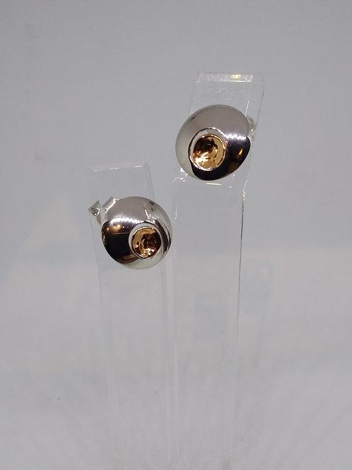 Argentviu Barcelona Zilveren oorstekers ronde