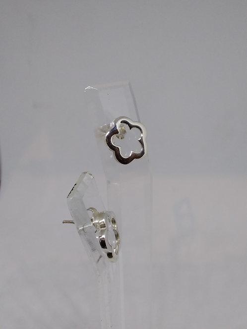 Argentviu Barcelona zilveren oorstekers bloem