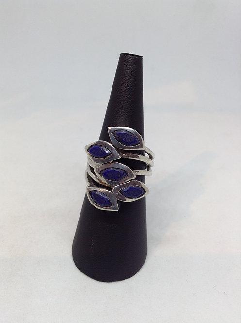 Zilveren ring met Lapis lazuli