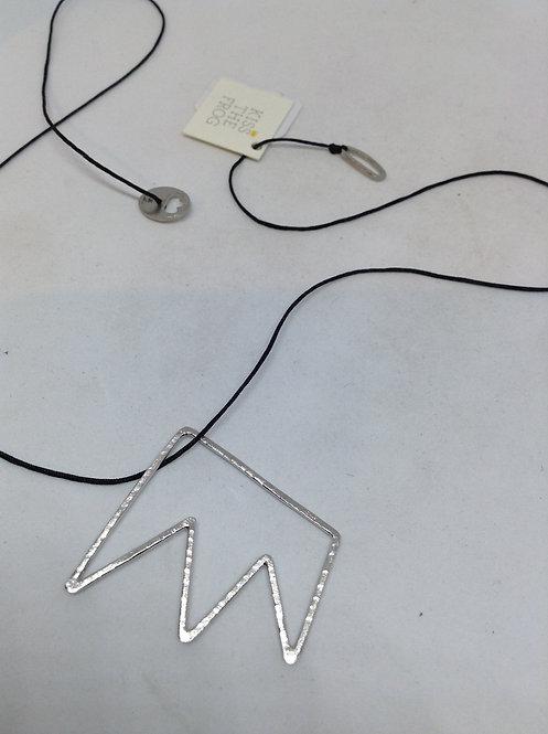 koordcollier met zilveren kroon