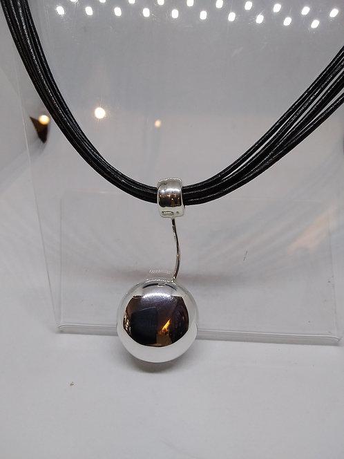 Argentviu zilveren hanger rubber collier
