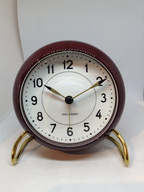 Arne Jacobsen table clock brown