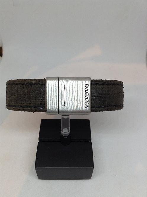 Dacaya donkergrijs armband