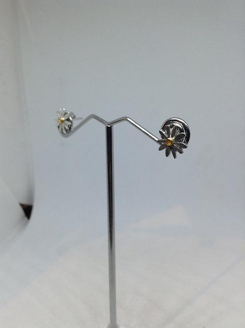 Zilveren oorstekers bloempje