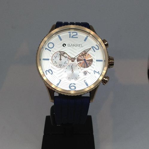 Barrel chronograph rosé goldplated