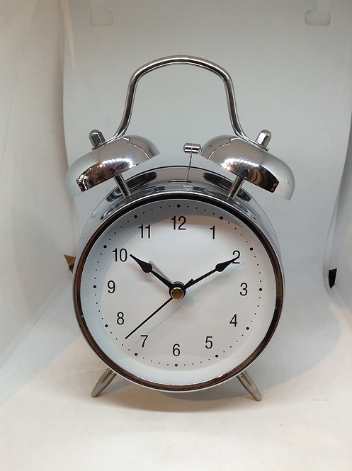 TFA alarm clock silver