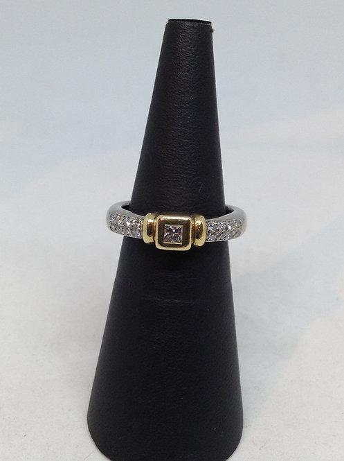 18K gouden ring met diamant
