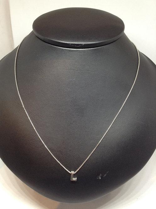"""Zilveren collier met letter""""L"""""""