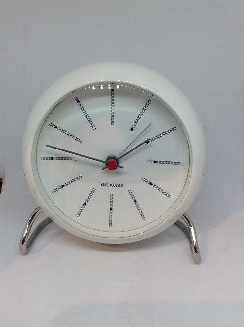 Arne Jacobsen table clock white
