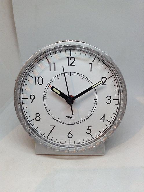 TFA alarm clock white with black